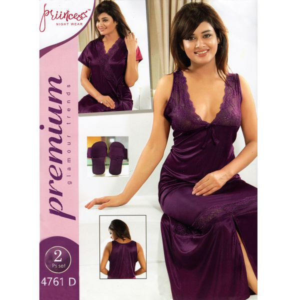 Fashionable Two Part Nighty-4761 D