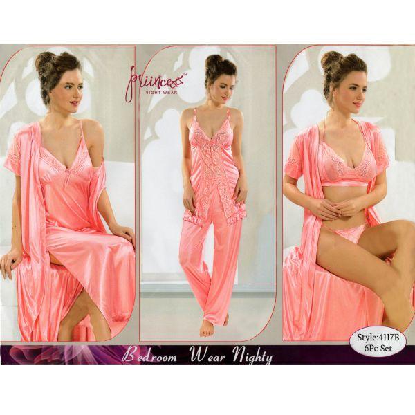 Fashionable Six Part Nighty-4117 B