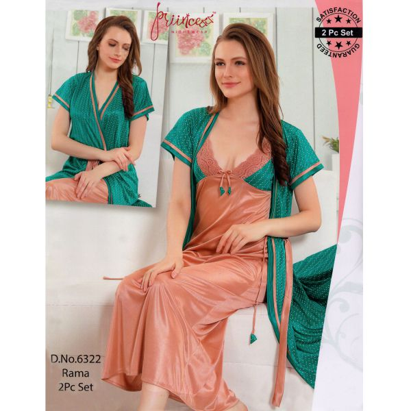 Fashionable Two Part Nighty-6322 Rama