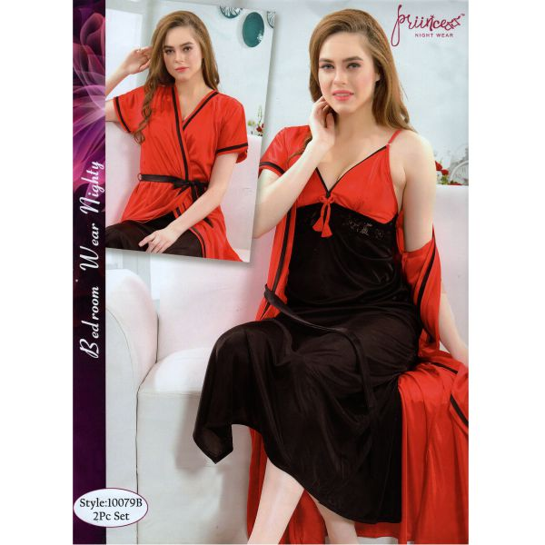 Fashionable Two Part Nighty-10079 B