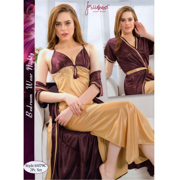 Fashionable Two Part Nighty-10079 C