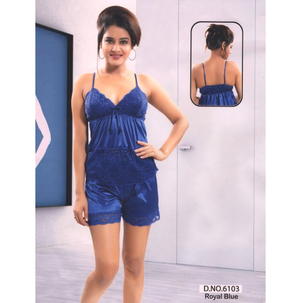 Two Part Nighty-6103 Royal Blue