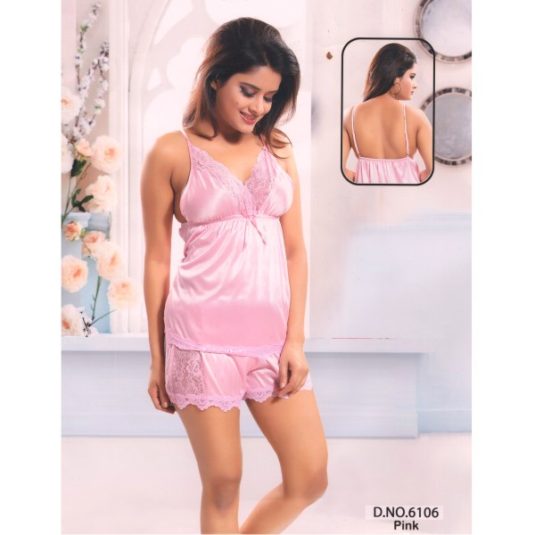 Two Part Nighty-6106 Pink