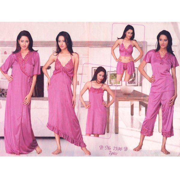 Fashionable Seven Part Nighty-7596 B