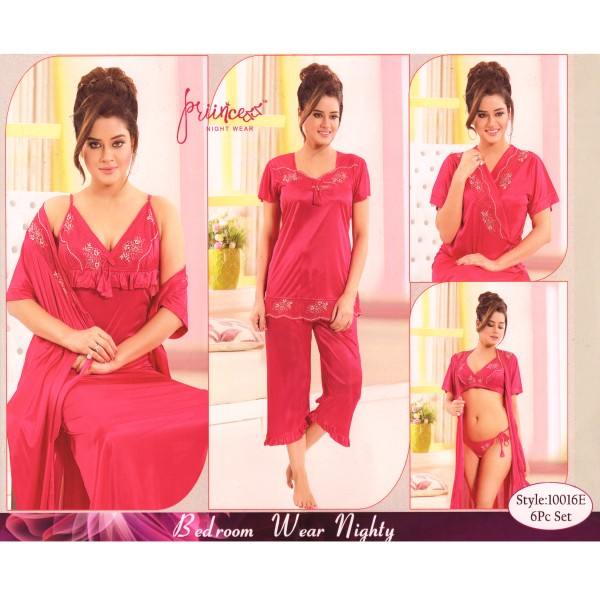 Fashionable Six Part Nighty-10016 E