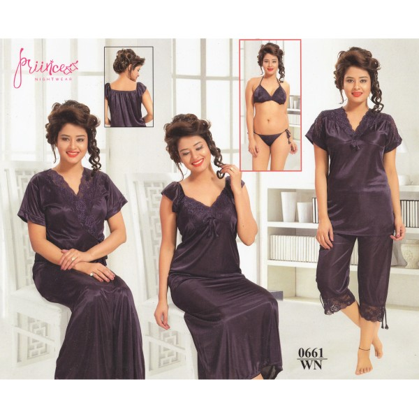 Fashionable Six Part Nighty-0661 WN