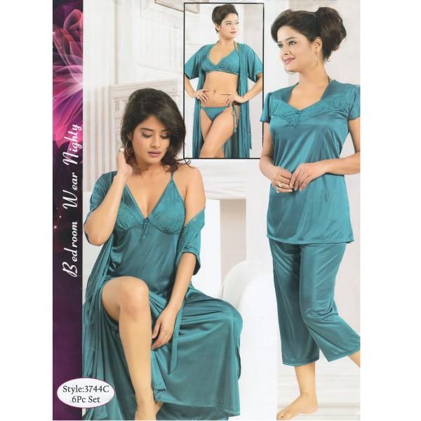 Fashionable Six Part Nighty-3744 C