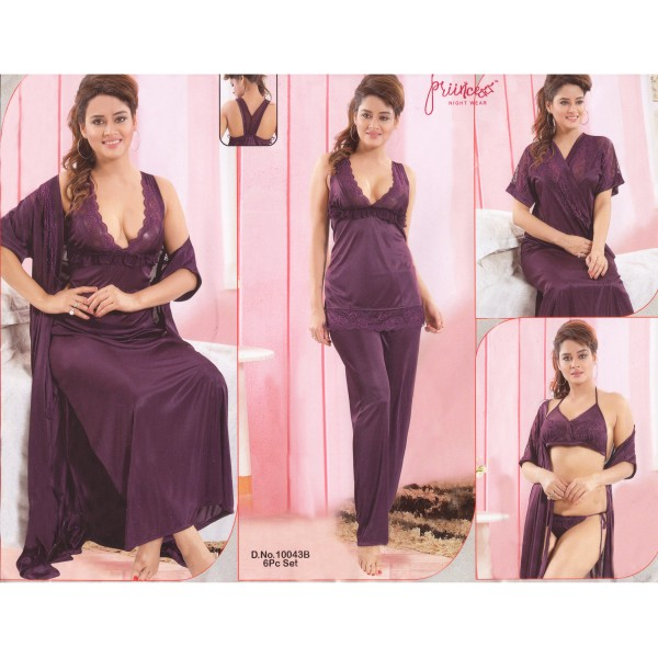 Fashionable Six Part Nighty-10043 B