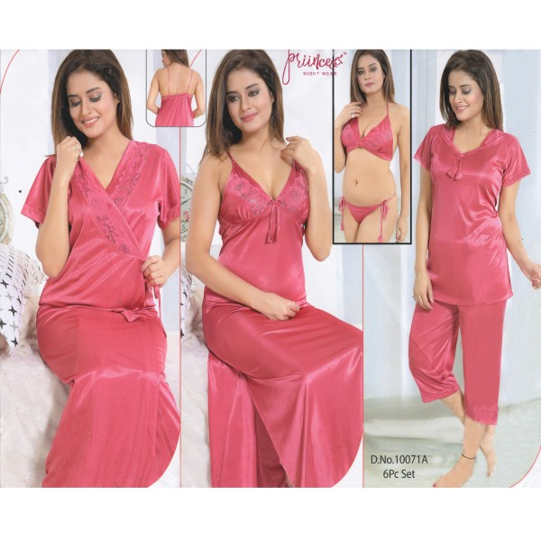Fashionable Six Part Nighty-10071 A
