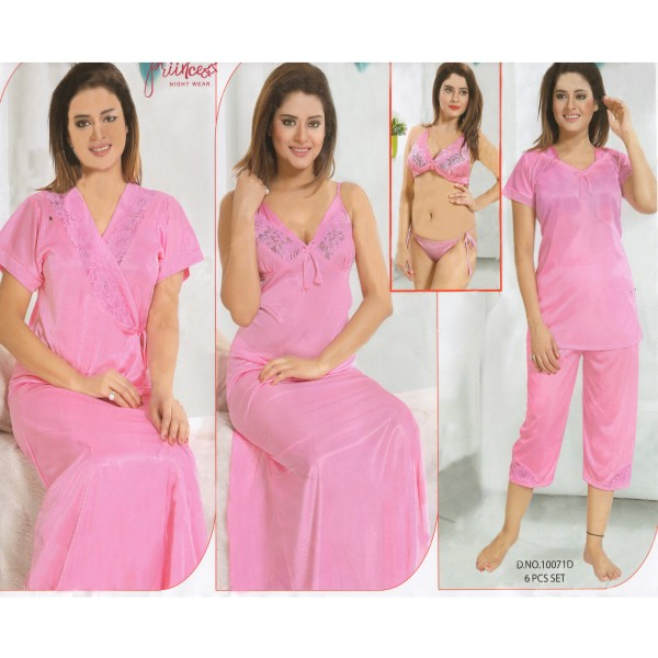 Fashionable Six Part Nighty-10071 D