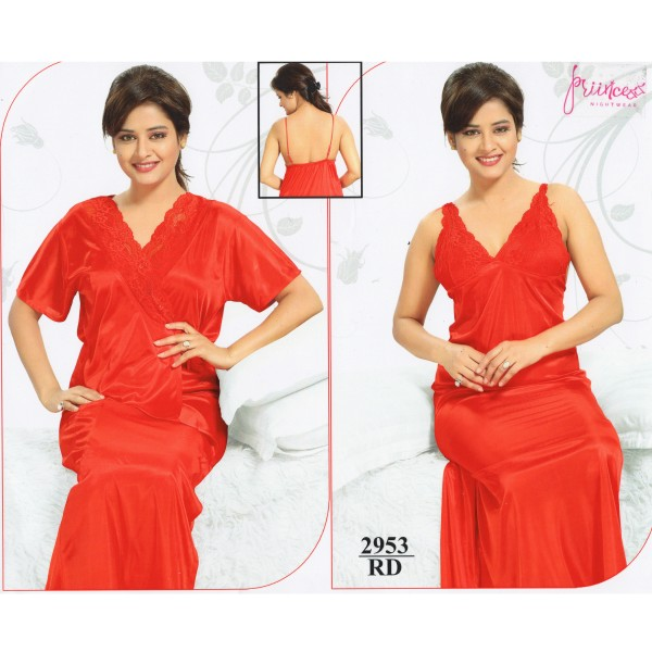 Fashionable Two Part Nighty-2953 RD