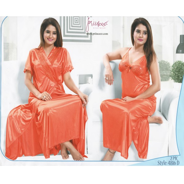 Fashionable Two Part Nighty-4816 D