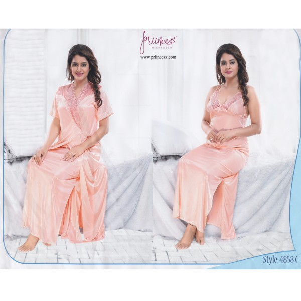 Fashionable Two Part Nighty-4858 C