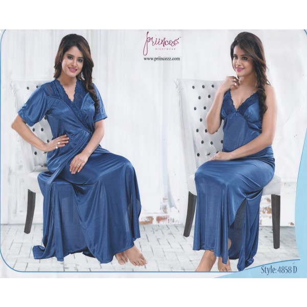 Fashionable Two Part Nighty-4858 D