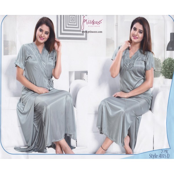 Fashionable Two Part Nighty-4815 D