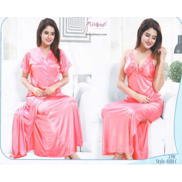 Fashionable Two Part Nighty-4818 C