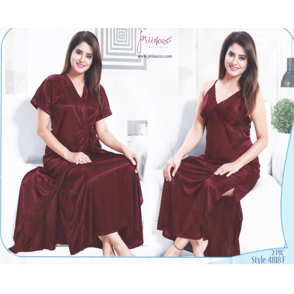 Fashionable Two Part Nighty-4818 F