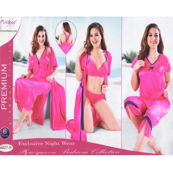 Fashionable Six Part Nighty-4427 A