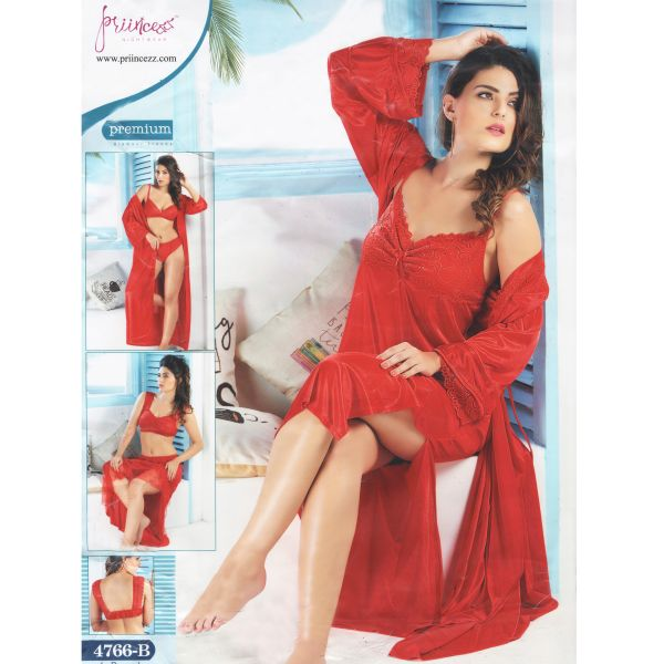 Fashionable Six Part Nighty-4766 B