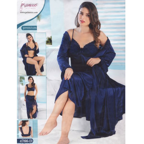 Fashionable Six Part Nighty-4766 D