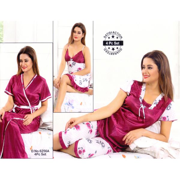 Fashionable Four Part Nighty-6256 A