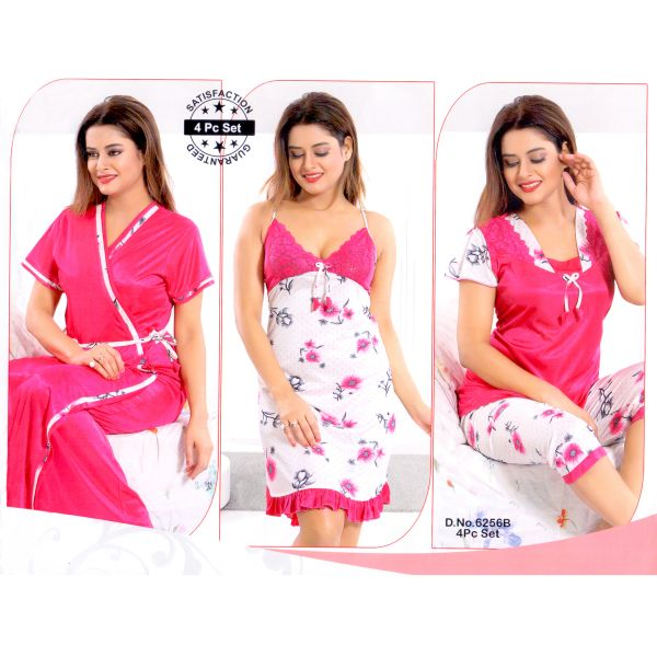 Fashionable Four Part Nighty-6256 B