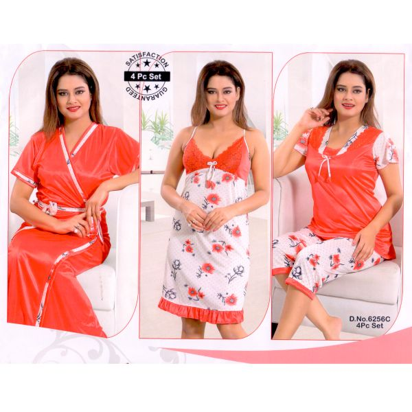 Fashionable Four Part Nighty-6256 C