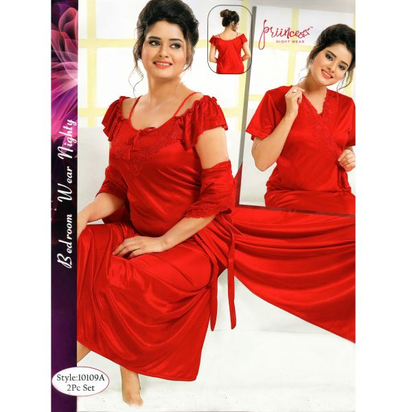 Fashionable Two Part Nighty-10109 A