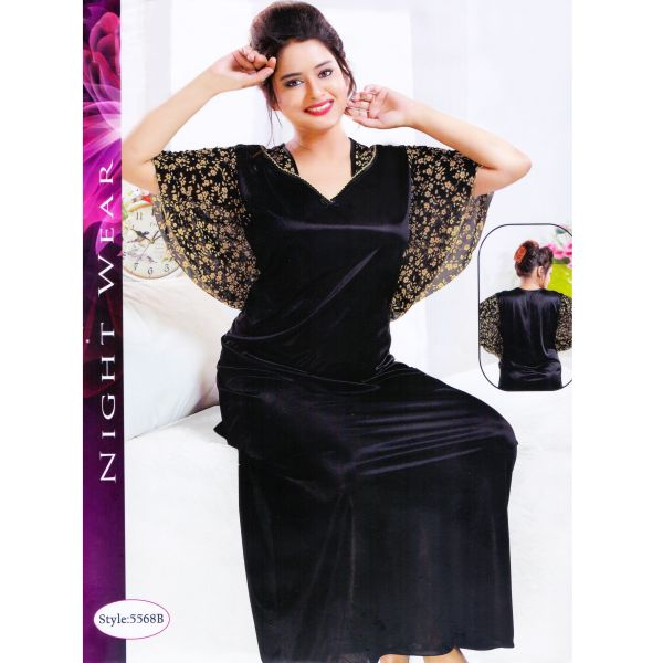 Fashionable One Part Kaftan-5568 B