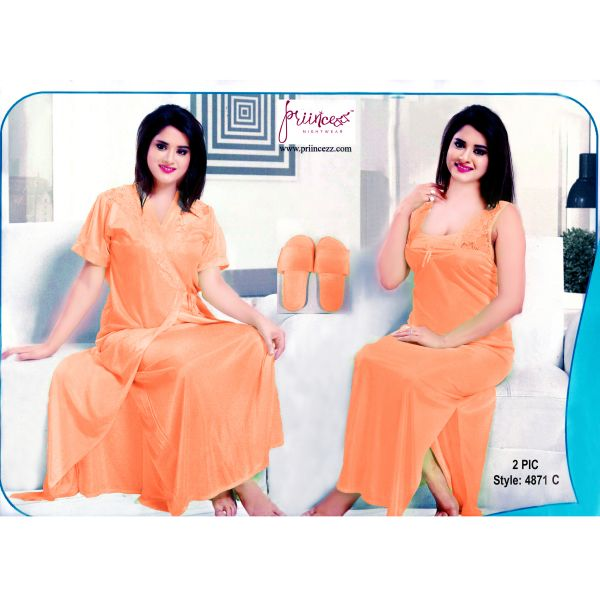 Fashionable Two Part Nighty-4871 C