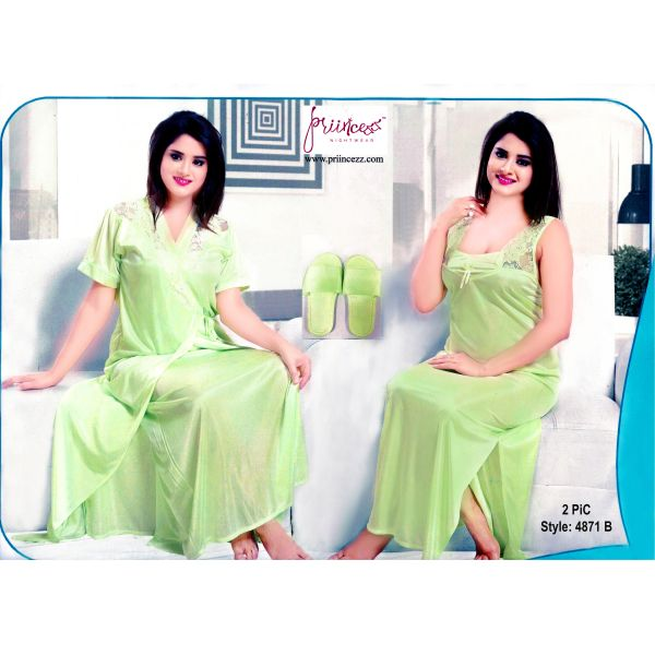Fashionable Two Part Nighty-4871 B