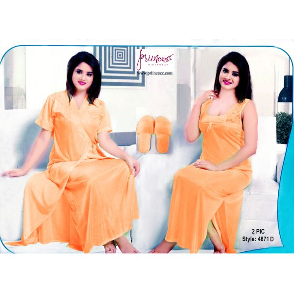 Fashionable Two Part Nighty-4871 D