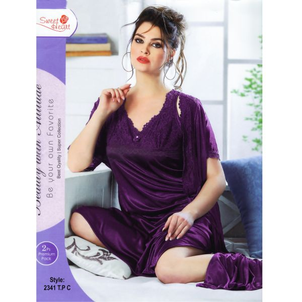 Fashionable Two Part Nighty-2341 T.P C