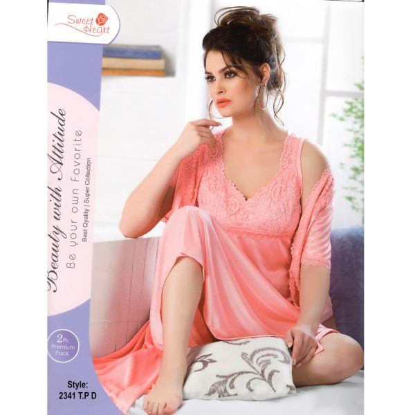 Fashionable Two Part Nighty-2341 T.P D