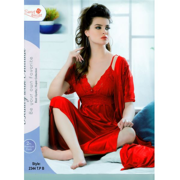 Fashionable Two Part Nighty-2344 T.P B