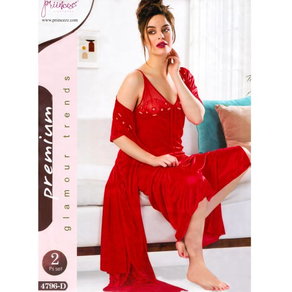 Fashionable Two Part Nighty-4796 D