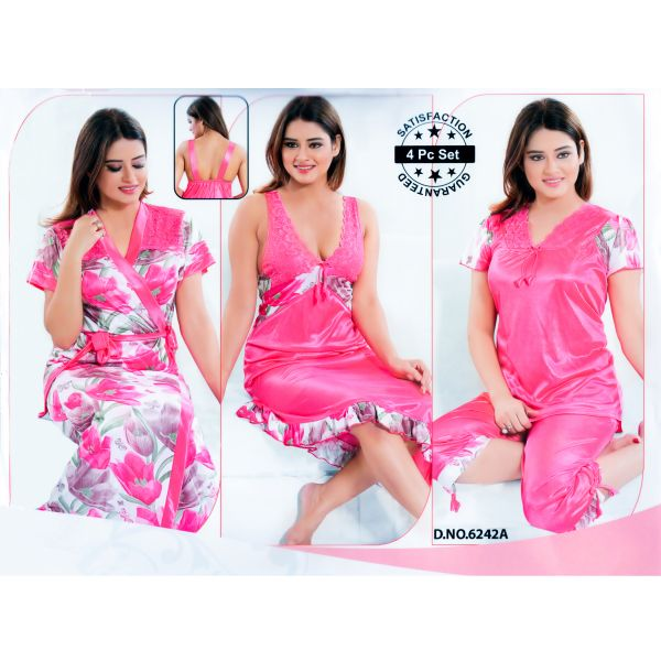 Fashionable Four Part Nighty-6242 A