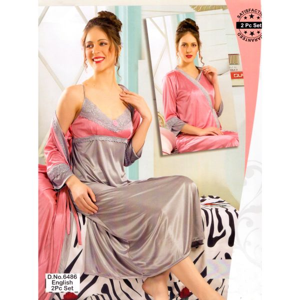 Fashionable Two Part Nighty-6486 English