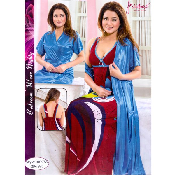 Fashionable Two Part Nighty-10057 A