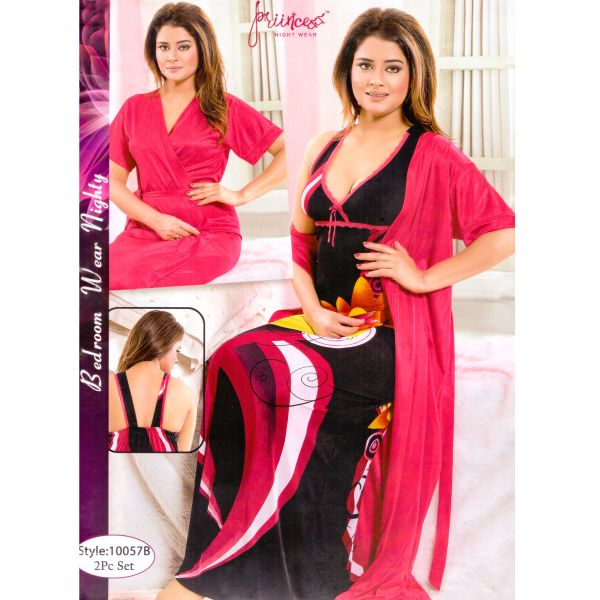 Fashionable Two Part Nighty-10057 B
