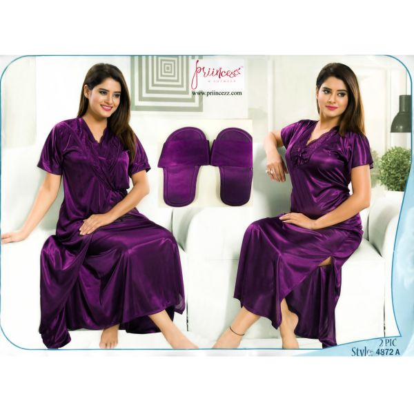 Fashionable Two Part Nighty-4872 A
