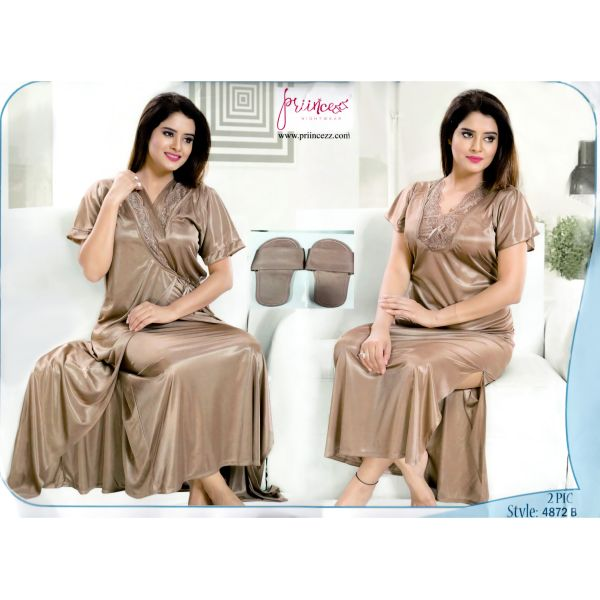 Fashionable Two Part Nighty-4872 B