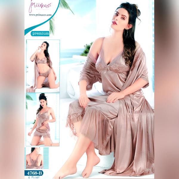 Fashionable Six Part Nighty-4768-B