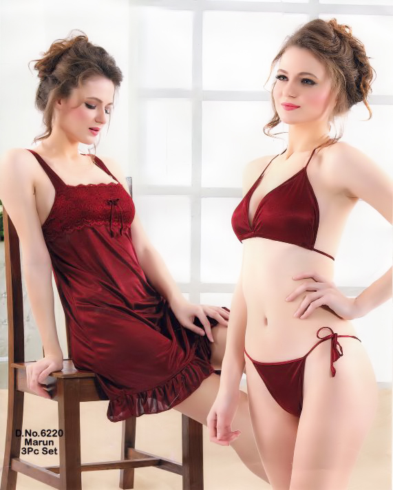 Three Part Nighty- 6220 Marun