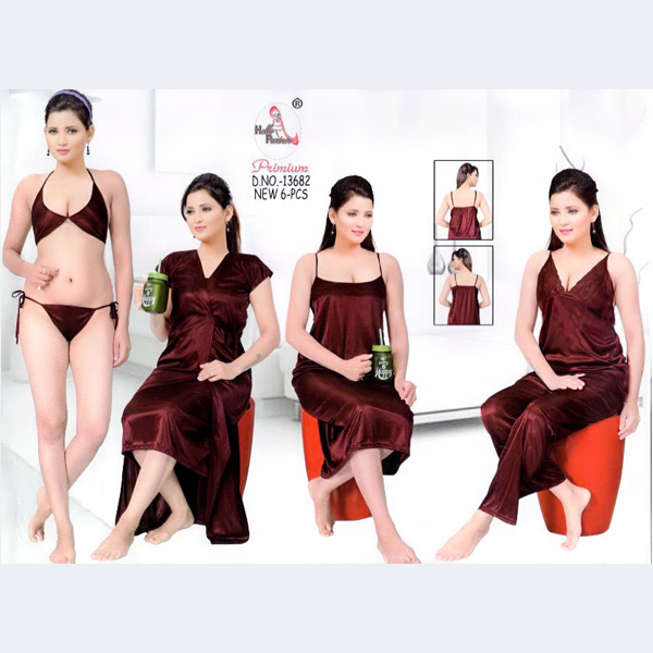 Fashionable Six Part Nighty-13682