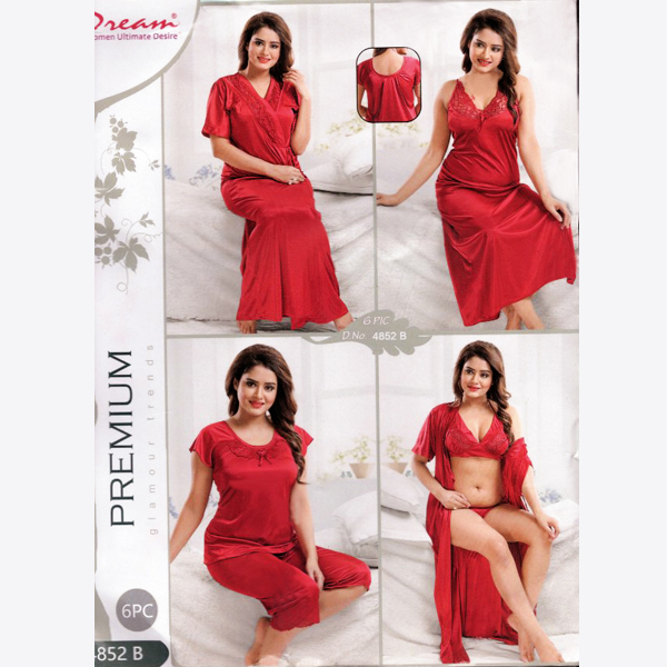 Fashionable Six Part Nighty-4852-B