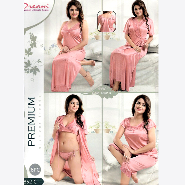 Fashionable Six Part Nighty-4852-C