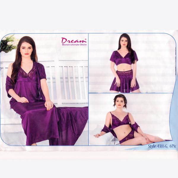 Fashionable Six Part Nighty-4385-G