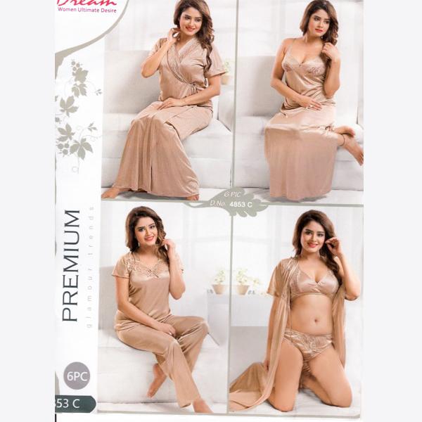 Fashionable Six Part Nighty-4853-C