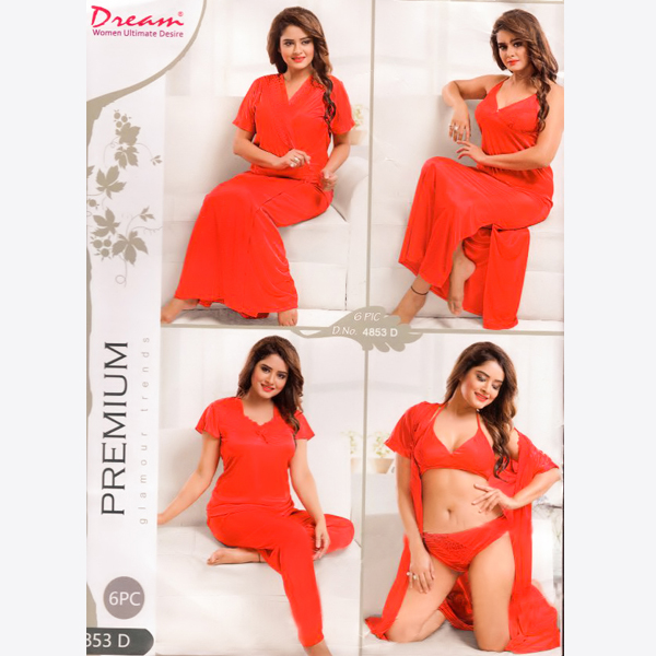 Fashionable Six Part Nighty-4853-D